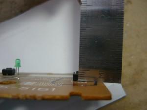Измерение высоты установленной кнопки