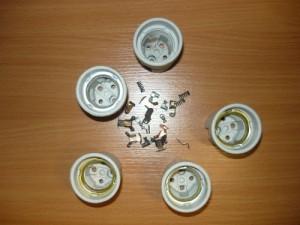 Керамические патроны и контакты от них