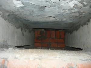 Вид на перекрытие двумя бетонными балками