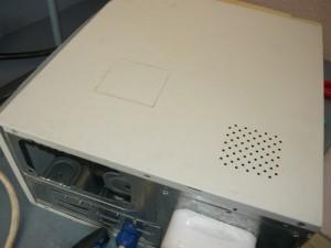 Разметка положения смотрового окна на крышке корпуса компьютера