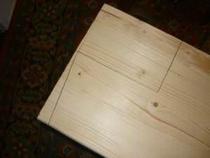 Разметка контура части доски, прилегающей к стене, аналогично как у доски подоконника