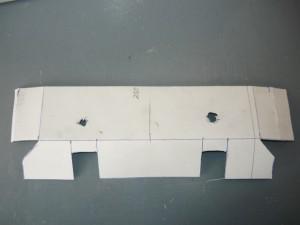 Шаблон из картона для изготовления крышки на кронштейн светильника