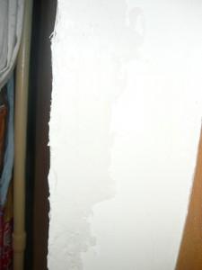 Выровненная поверхность оконного косяка
