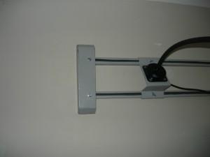 Установленная крышка на кронштейн светильника