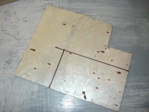 Разметка прямоугольника на листе оцинкованной жести