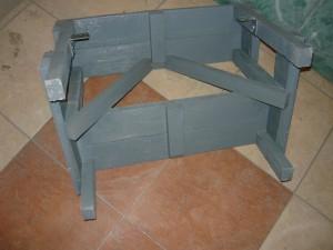 Вид на скамейку с обратной стороны