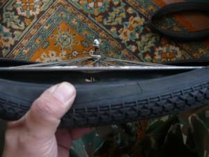 Вид на освобожденное отверстие в ободе колеса
