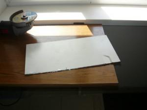 Вид на отрезанную боковую крышку