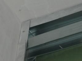 Добавленный профиль под монтаж листов гипсокартона при их стыке