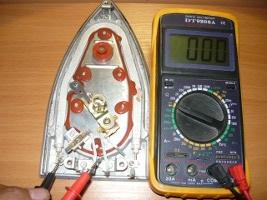 Проверка целостности электрической цепи выключателя по превышению максимальной температуры утюга
