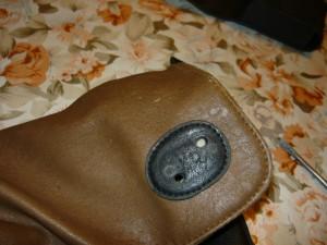 Вид на ответную часть на сумке