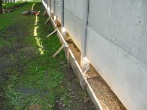 Общий вид  на опалубку под бетонным забором