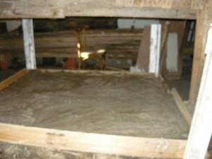 Выравнивание поверхности фундамента под кирпичную печь