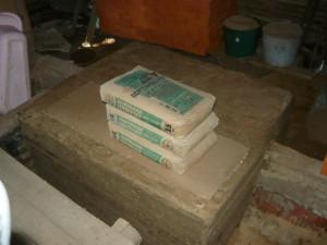 Готовый фундамент под кирпичную печь