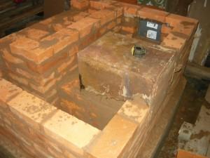 Вид на духовку с выравненными стенами слева