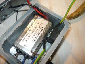 Вид на вставленный выключатель в корпус светильника