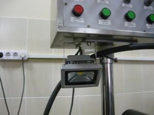 Вид на смонтированный светодиодный светильник