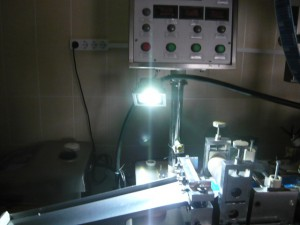 Светодиодная подсветка на станке