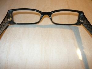 Вид на отремонтированные очки изнутри
