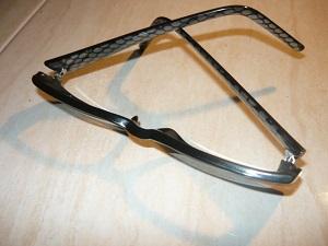 Вид на отремонтированные очки снаружи