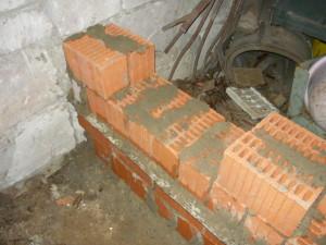 Начало строительства лаза