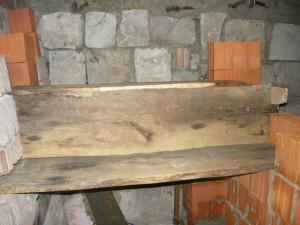 Вид спереди на вертикальную доску