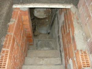 Готовая лестница. Вид сзади.