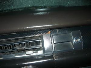 Вид на верхнюю панель с отогнутом уголком