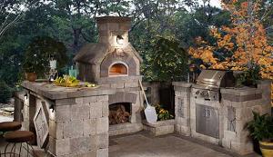 Печь для пиццы с газовым барбекю