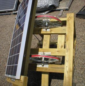 Монтаж солнечной панели на вращающуюся раму