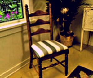 Отремонтированный стул