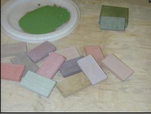 Цветовые пигменты для добавления в цементную смесь