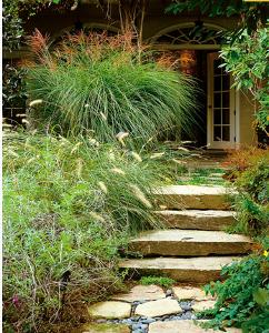 Натуральная каменная лестница