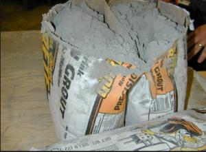 Мешок с цементной смесью