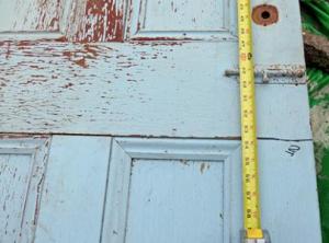 Разметка полотна старой двери
