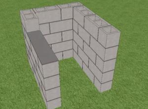 Установка пятого ряда блоков