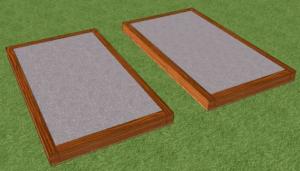 Вид на залитую бетоном опалубку