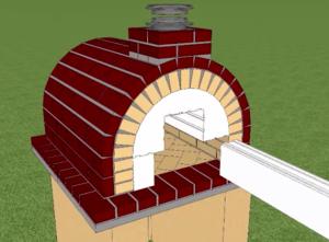Демонтаж макета топки печи для пиццы
