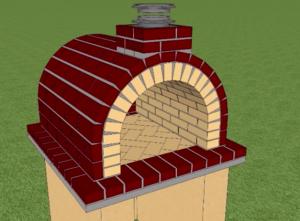 Вид на печь после извлечения макета из топки