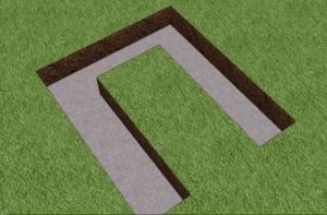 Вид на залитый бетоном котлован